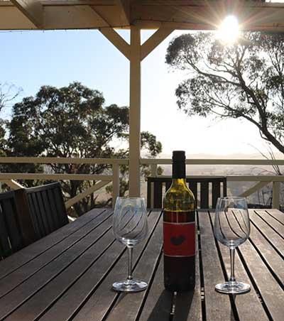 Holiday wine on Bathurst Deck